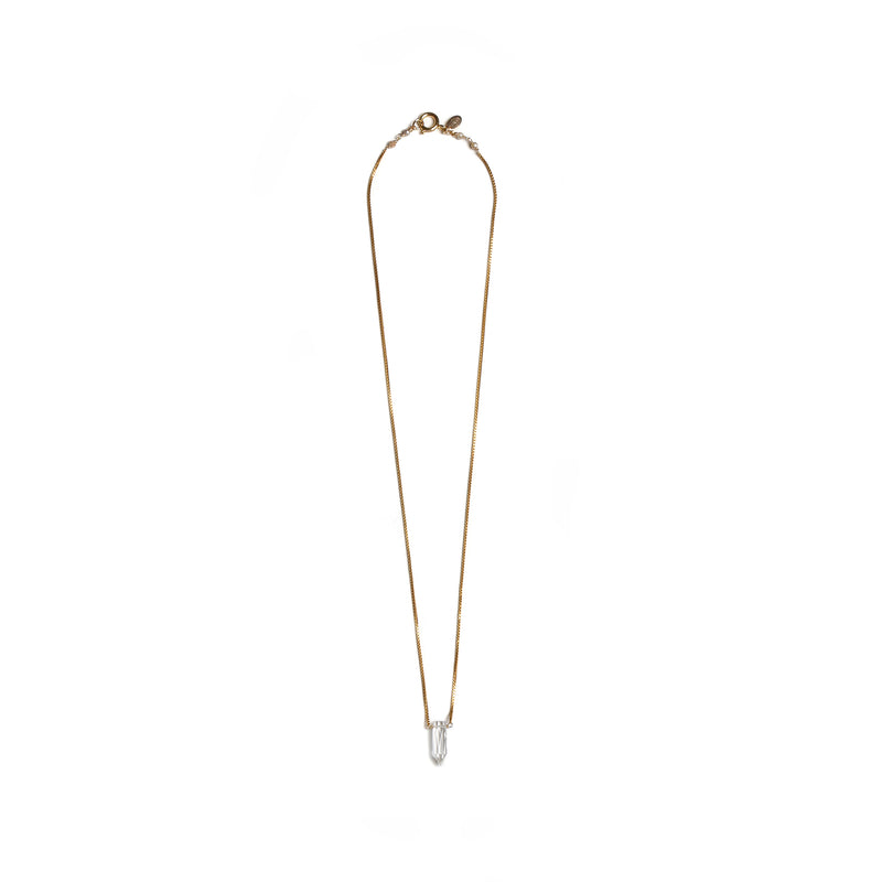 Gema Pendulum White Topacio Necklaces