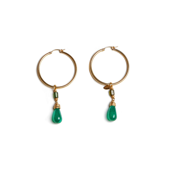 Christine Malachite Earing