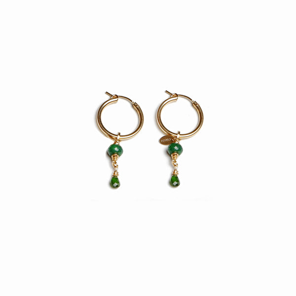 Christine Small Green Earing