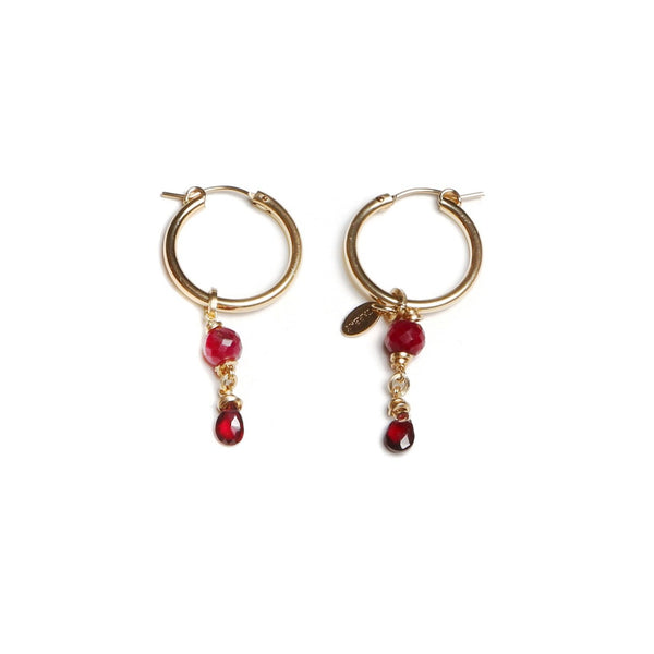 Christine Small Red Earings