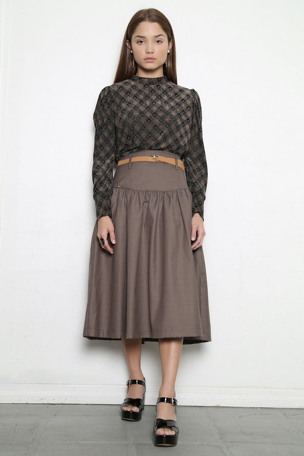 Virginia  Brown Skirt