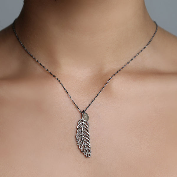 Brigitte Leaf Necklace