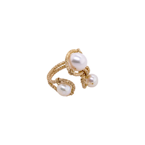 Lilli Adjustable Ring - Pearl