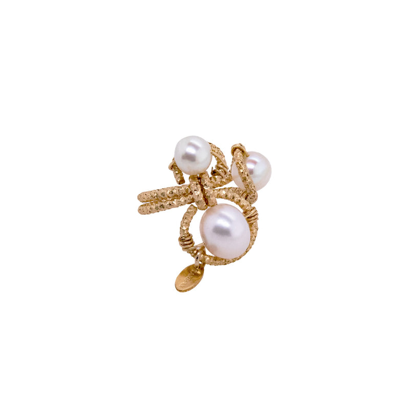 Lilli Adjustable Ring - Pearl - TARBAY