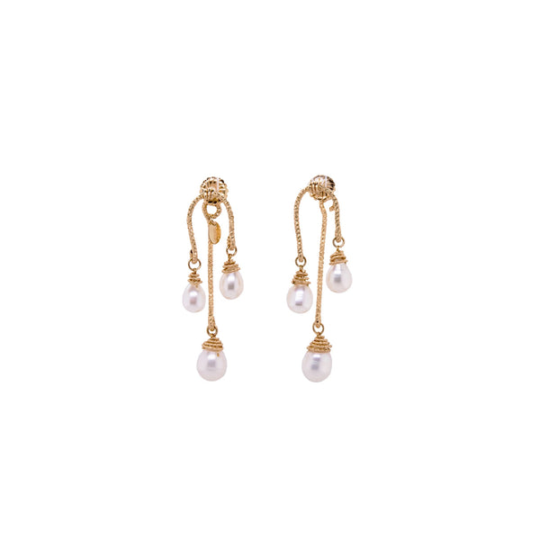 Lilli Dangle Earrings - Pearl - TARBAY