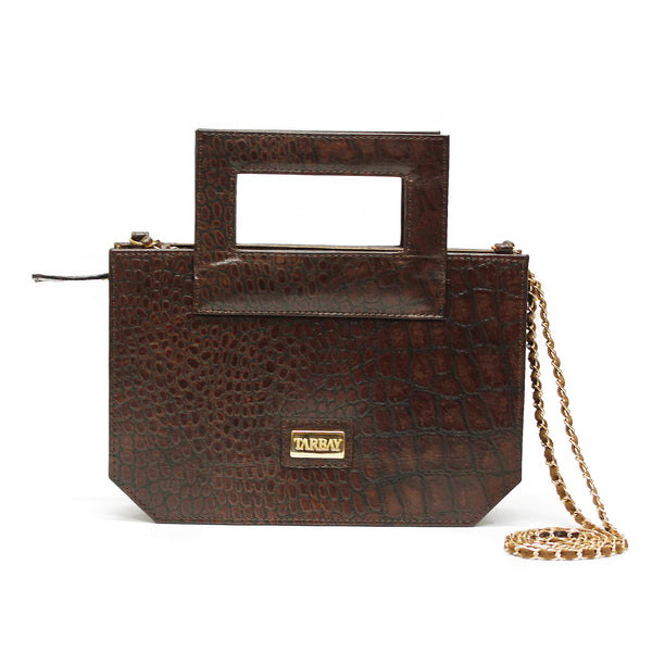 Norwich Clutch Bag - Brown
