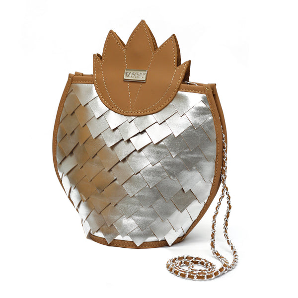 Pineapple Silver  Bag