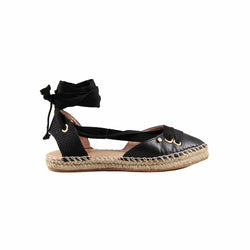 Melia Black Espadrille Sandals