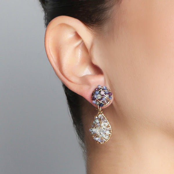 Lucía Blue Short Earring