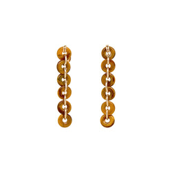 Mojobo Dangle Earrings - Tiger's Eye
