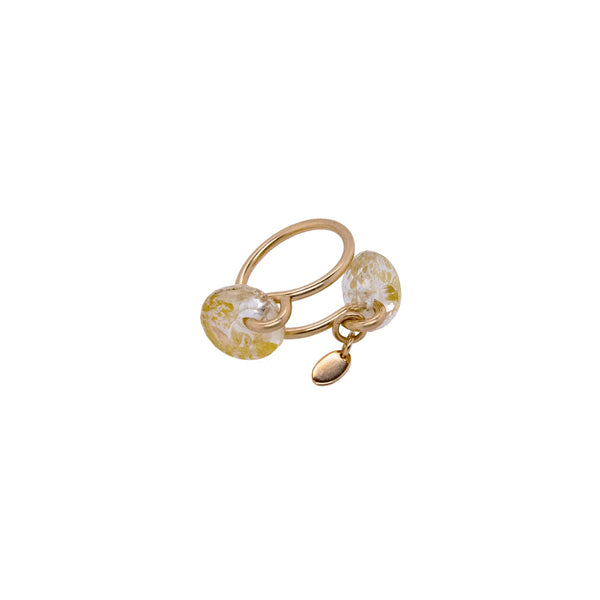 Sagú Adjustable Ring - Rutilated Quartz