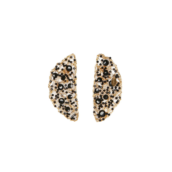 Media Naranja Black Earrings