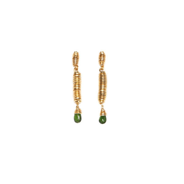 Pergamino Green Dangles  Earrings