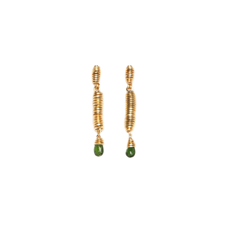 Pergamino Green Dangle Earrings