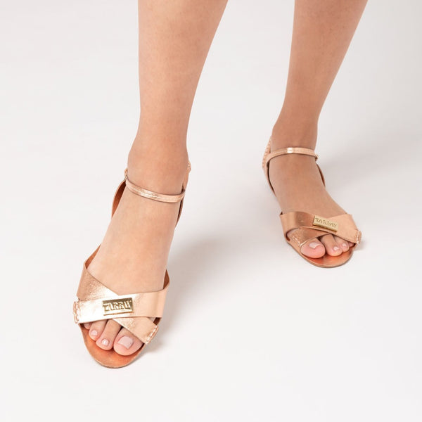 Tajali Leather Sandals - Metallic Sweet - TARBAY