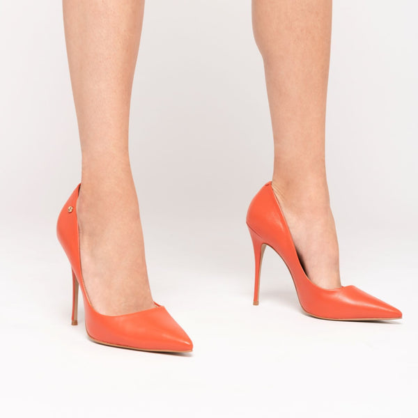 Lore Stilettos High Heel Shoes - Orange - TARBAY