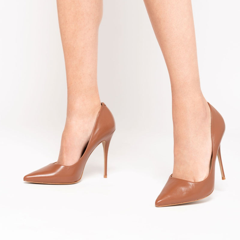 Lore Stilettos High Heel Shoes - Caramel - TARBAY