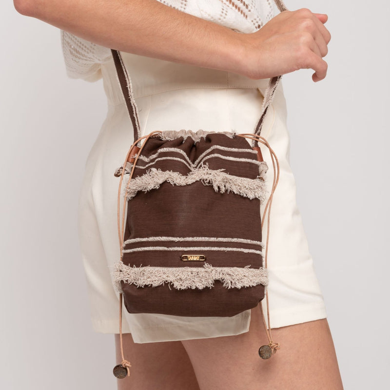 Daniela Mini Bucket Bag  - Chocolate - TARBAY