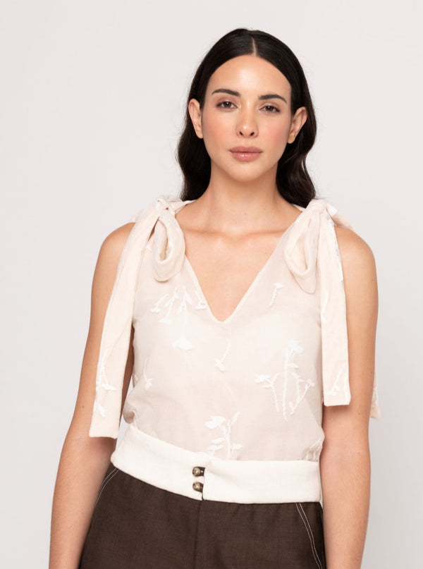 Ysamar Top - Cream - TARBAY