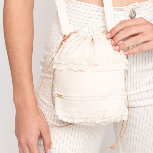 Daniela Mini Bucket Bag  - Cream - TARBAY