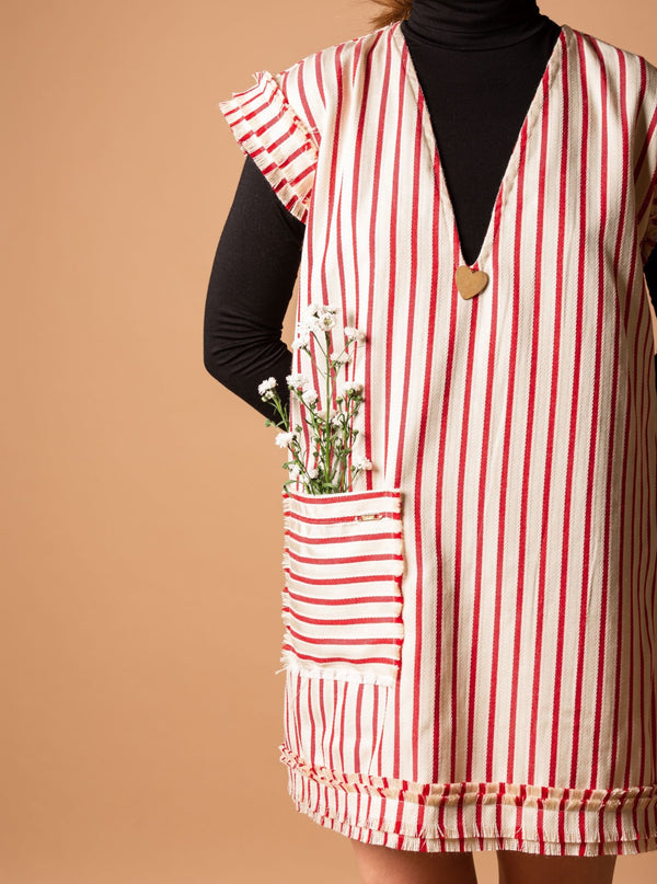 Amare Striped Jumper - Red & White - TARBAY