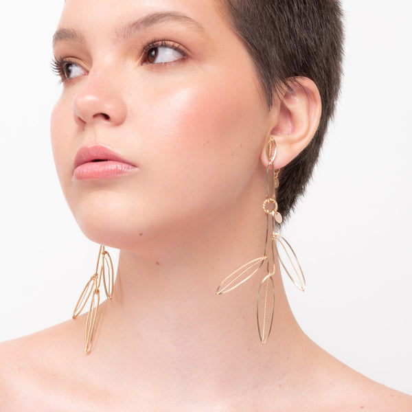Palmira Button Dangle Earrings - TARBAY