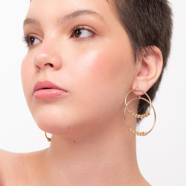 Kalu Button Dangle Earrings - TARBAY