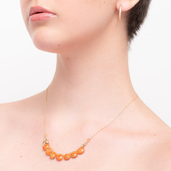 Rocio Necklace - Calcite & Citrine