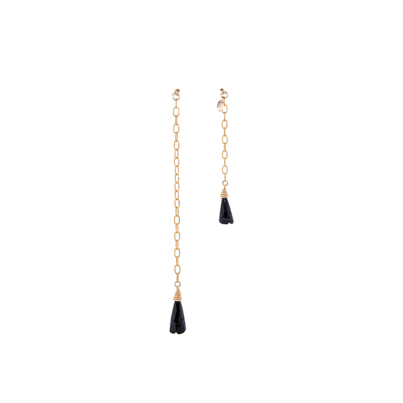 Cala Dangle Earrings #1 - Black Onyx - TARBAY