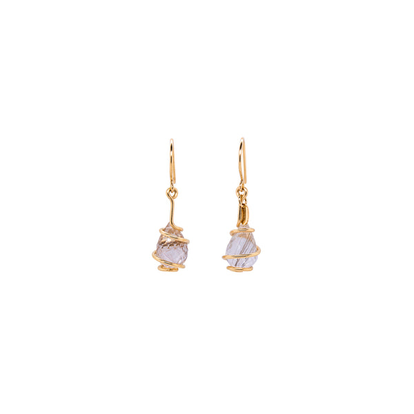 Domenica Earring - Rutilated Quartz