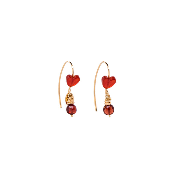Bari Earrings #2 - Garnet & Agate