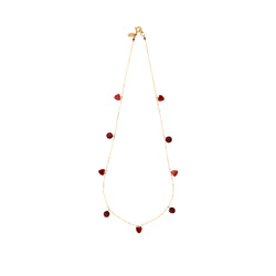 Bari Necklace #1 - Garnet, Agate & Rose Tourmaline