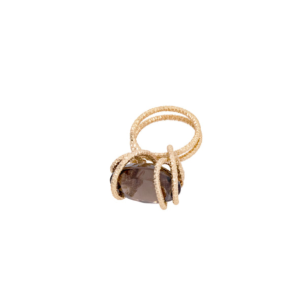 Domenica Ring - Smoky Quartz
