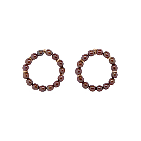 Buriti Hoop Earrings #2 - Pearl