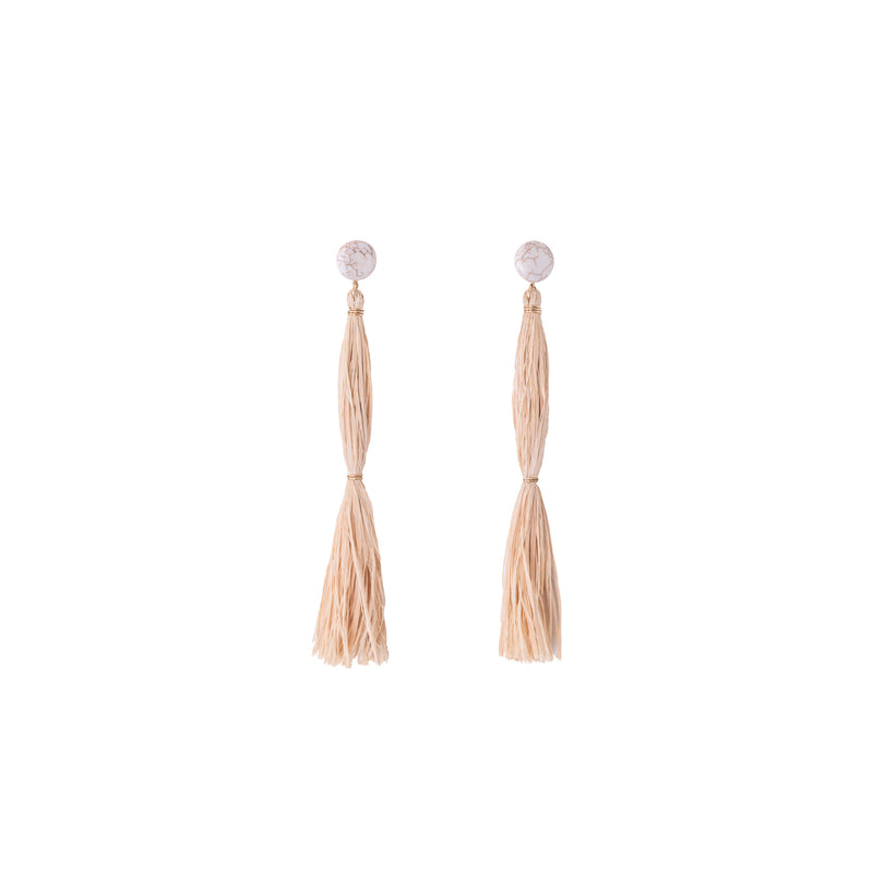 Moriche Earring #2 - White Turquoise & Moriche Palm - TARBAY