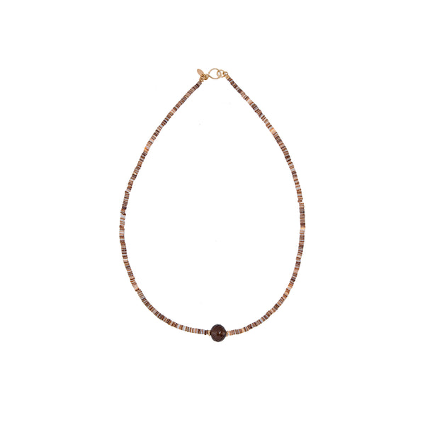 Sabana Necklace #1 - Smoky Quartz - TARBAY
