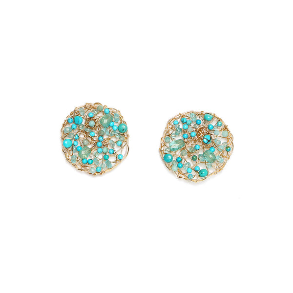 Aura 30mm Turquoise Earring
