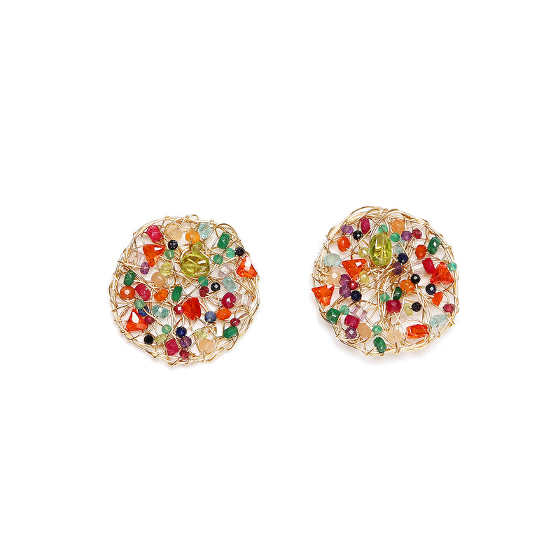 Aura 30mm  Arcoiris Earring