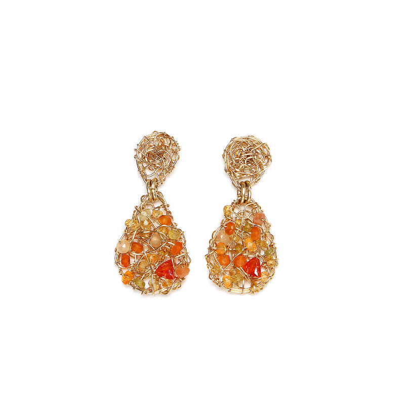 Gota 20mm  Orange Earring