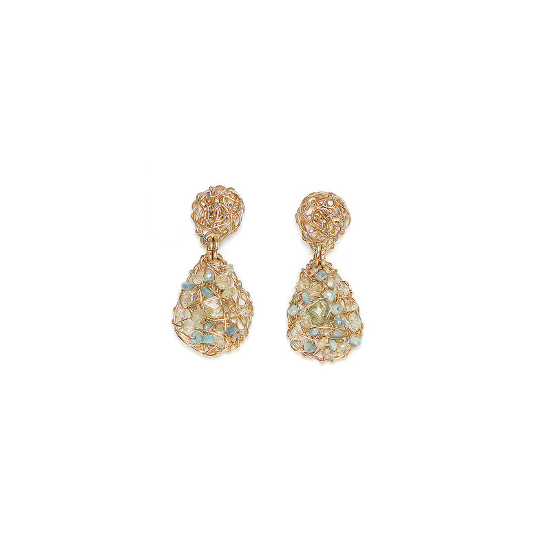 Gota 20mm  Aquamarine Earring
