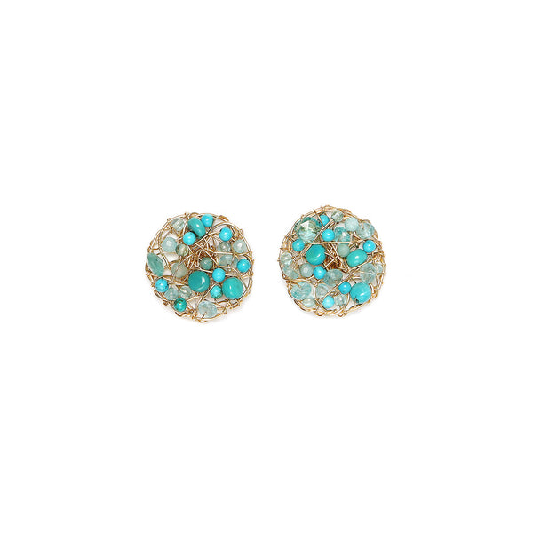 Aura 20mm Turquoise Earring