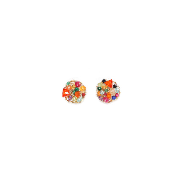 Aura Earring #1 (10mm) - Rainbow Mix