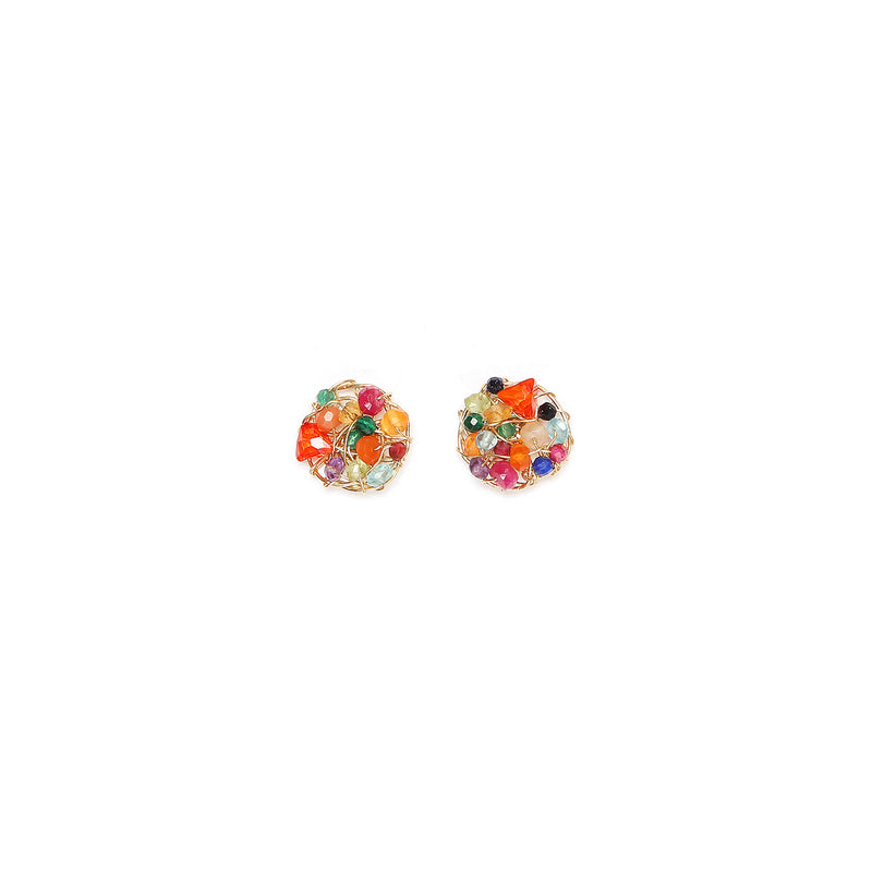 Aura Multicolor Small Stud  Earrings