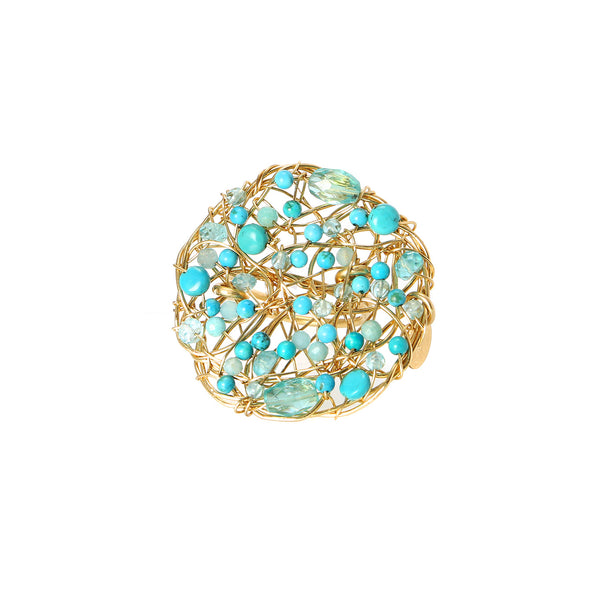 Aura 40mm Turquoise  Ring