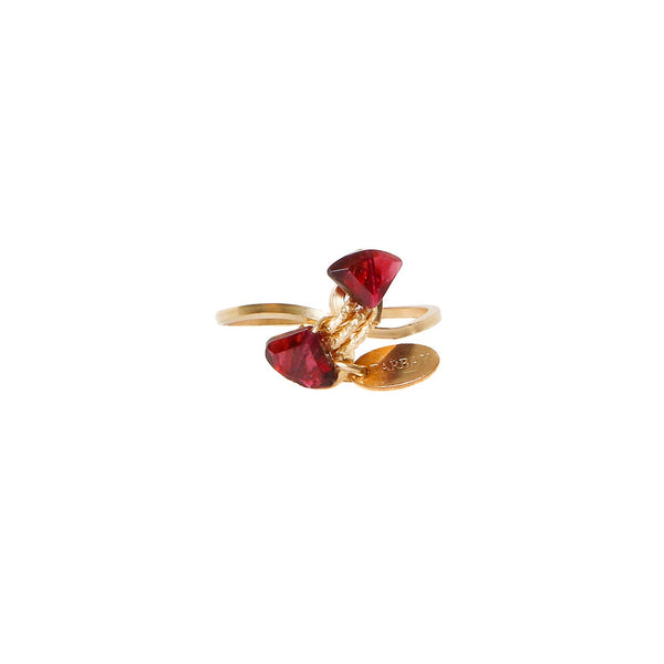 Atargati Two Gems Red Ring