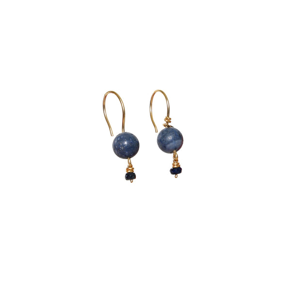 Katherine Small Blue Coral Earring