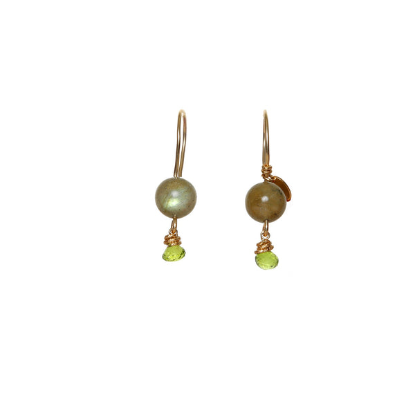 Katherine Small Green Earrings