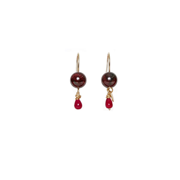 Katherine Small Red Earrings