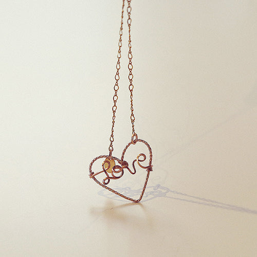 Love Necklace - Yellow and Rose Gold - TARBAY