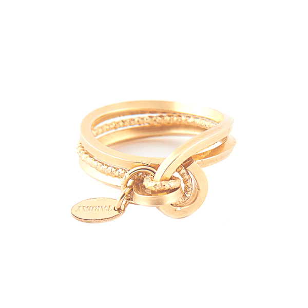 Beth Ring #1 (13mm) - Yellow Gold - TARBAY